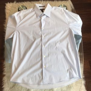 Express Blue Stretch Long Sleeve Button Down